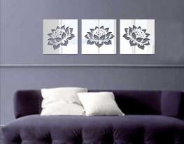 Декоративное акриловое зеркало Цветы лотоса фото