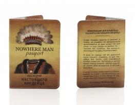 Кожаная обложка на паспорт Настоящего Нигдейца фото