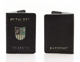 Кожаная обложка на паспорт Металист фото