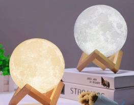 Настольный светильник 3D MOON LAMP Месяц 15 см фото