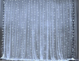 Гирлянда штора led 360 белая фото 3