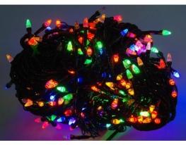 Гирлянда светодиодная LED 500 чёрный провод Мультик фото