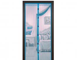 Антимоскитная сетка Magnetic Mesh на магнитах 210х90 синяя фото
