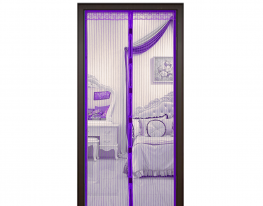 Антимоскитная сетка Magnetic Mesh на магнитах 210х90 фиолетовая фото