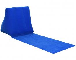 Туристический шезлонг с надувной спинкой Синий фото 1