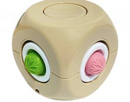 Игрушка антистресс Simple Dimple спиннер куб бежевый фото 1