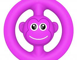 Игрушка антистресс ПОП Ит snapperz пищалка фиолетовая фото 1