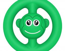 Игрушка антистресс ПОП Ит snapperz пищалка зелёная фото
