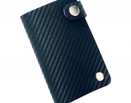 Кредитница на кнопке черная экокожа Premium10 карт фото 1