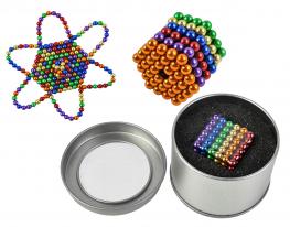 Магнитная игрушка головоломка конструктор антистресс Неокуб Neocube разноцветный 216 шариков 5 мм фото
