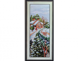 Набор для вышивки картины Время года - Зима 40х20см фото