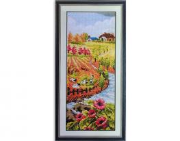 Набор для вышивки картины Время года - Осень 40х20см фото