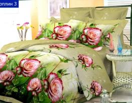 Комплект постельного белья 1,5 поплин Цветы фото