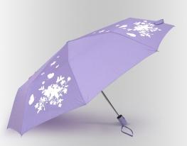 Зонт антишторм меняющий цвет Цветы фото