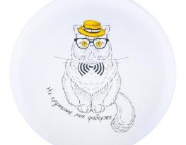 """Тарелка с котом """"Не крутите мне фаберже"""" фото"""