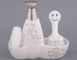 Набор для мыла с губкой и щеткой Dynasty фото
