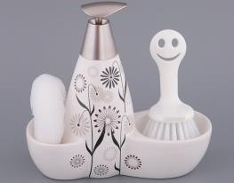 Набор для мыла с губкой и щеткой Васельки фото