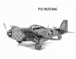 3D конструктор Самолет P-51 Mustang фото