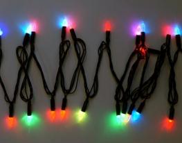 Гирлянда светодиодная LED 200 с черным проводом фото
