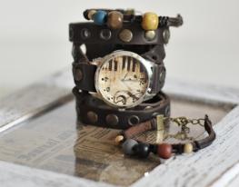Наручные часы с браслетами Скрипичный ключ фото