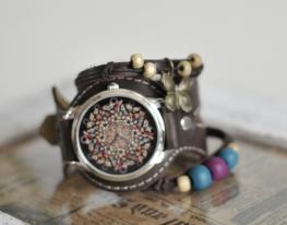 Наручные часы с браслетами Абстракция из бабочек фото