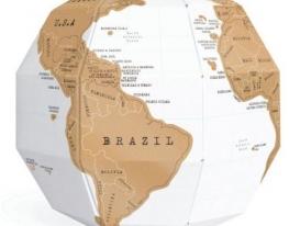 Скрэтч-карта мира Глобус Scratch Globe (на английском) фото 2