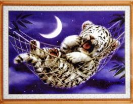 Набор для вышивки картины Тигренок 46х36см фото