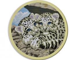 Набор для вышивки картины Тигрята 44х44см фото