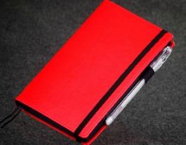 купить Блокнот с черной бумагой Красный мини