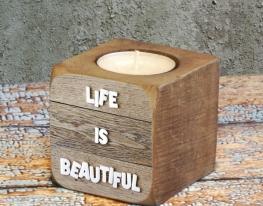 Подсвечник Жизнь прекрасна фото