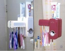 Дозатор зубной пасты с держателем для щеток фото