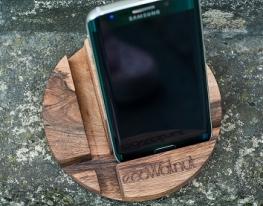 Подставка для смартфона Круг дерево фото