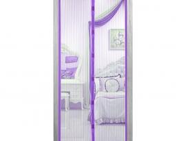 Дверная антимоскитная сеткаMagnetic Mesh на магнитах фиолетовая фото