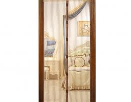 Дверная антимоскитная сетка на магнитах коричневая фото