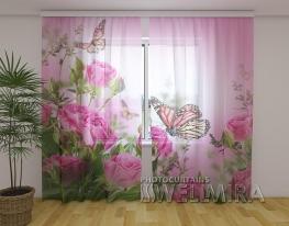 Шторы Бабочки и розы фото