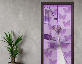 Дверная антимоскитная шторка на магнитах Фиолетовый Ажур фото 3