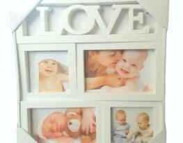 Фотоколлаж на 4 фото Love