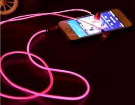 Светящиеся наушники Light EarPhone Розовые фото