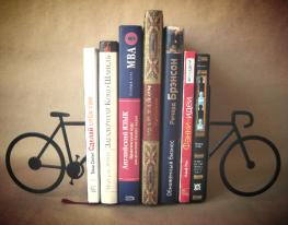 Интерьерный книгодержатель Велосипед фото