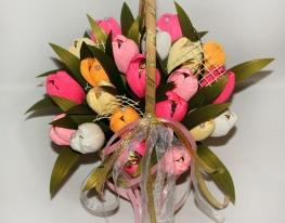 Букет из конфет Тюльпаны фото