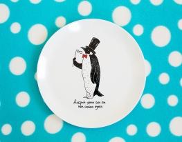 Тарелка Пингвин фото