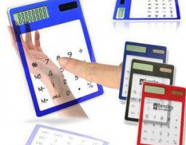 Прозрачный сенсорный калькулятор фото