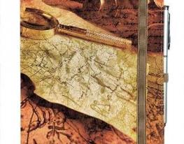 Блокнот на резинке Rainbow Карта и лупа фото
