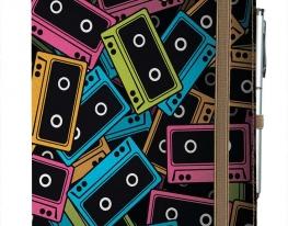 Блокнот на резинке Rainbow Разноцветные кассеты фото