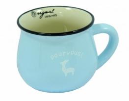 Чашка кувшин керамическая Zakka, голубая, 250 мл. Лань фото 1