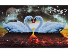 Набор для вышивки картины Лебединая Феерия 70х50см фото