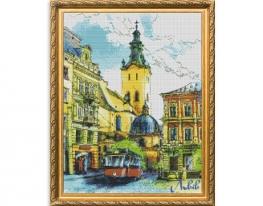 Набор для вышивки картины Радужный Львов 57х47см фото