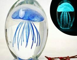 Светящаяся медуза в стекле фото