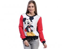 Свитшот красный с принтом Микки Маус фото