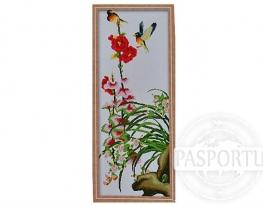 Набор для вышивки картины Яркие птички 91х40см фото